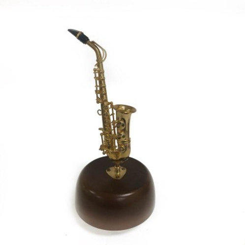 Mini Saxophone avec boîte à musique 1:40