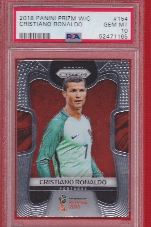 2018 Panini Prizm W/C Cristiano Ronaldo #154 PSA 10