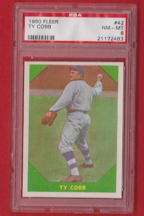 1960 Fleer Ty Cobb # 42 PSA 8