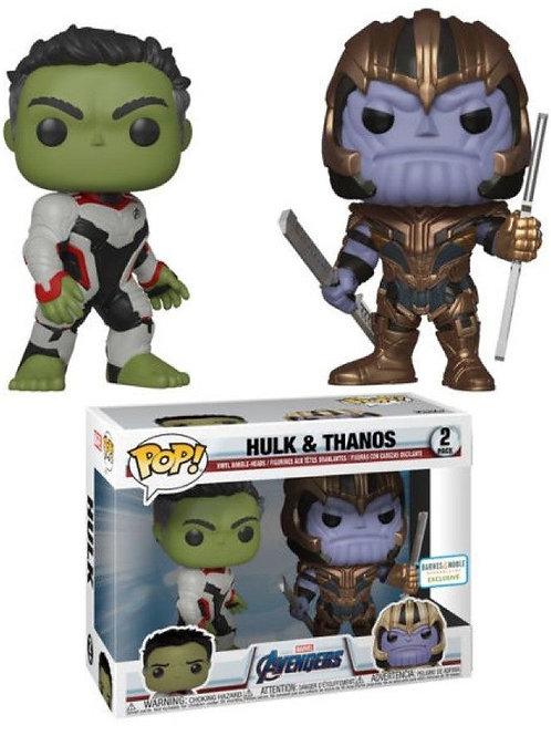 Hulk & Thanos Funko Pop! Avengers 2 Pack Barnes & Noble Exclusive