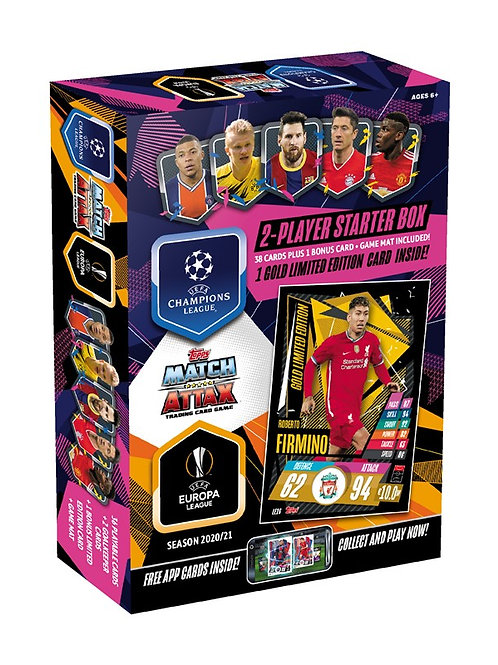 2020-21 Topps UEFA Champions League Match Attax 2-Player Starter Box