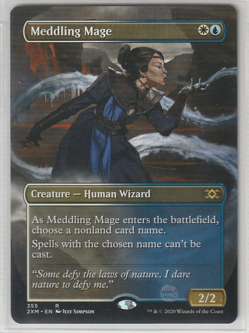 Meddling Mage - Borderless Double Masters Alternate Art #355