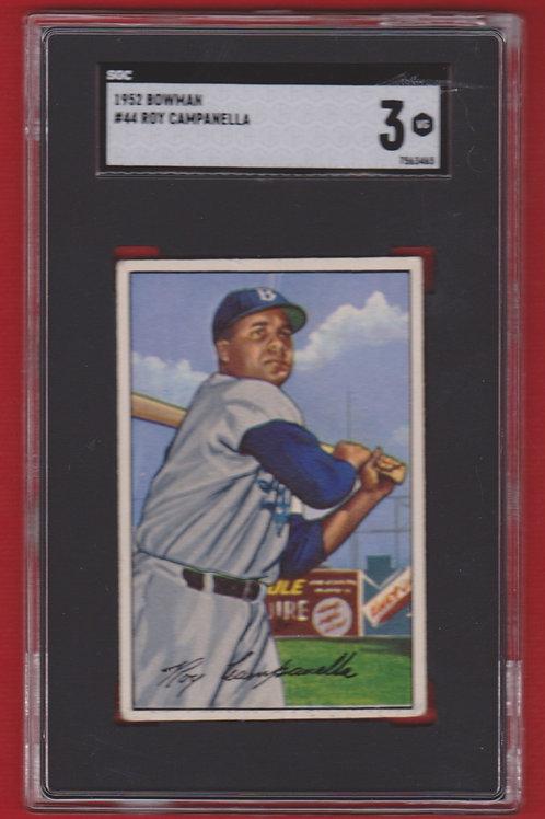 1952 Bowman Roy Campanella #44  SGC 3