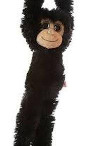 "Monkey Aurora World Natural Hanging Monkey  Black 24"""