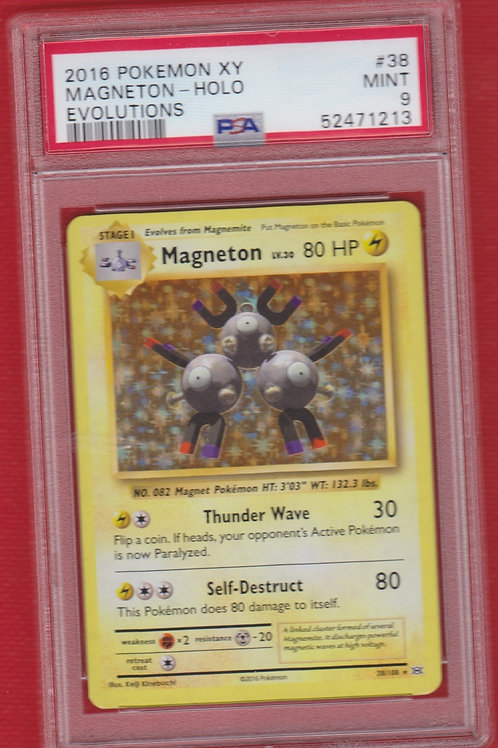2016 Pokemon XY Evolutions Magneton Holo #38 PSA 9