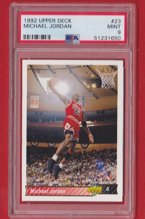 1992 Upper Deck Michael Jordan #23 PSA9