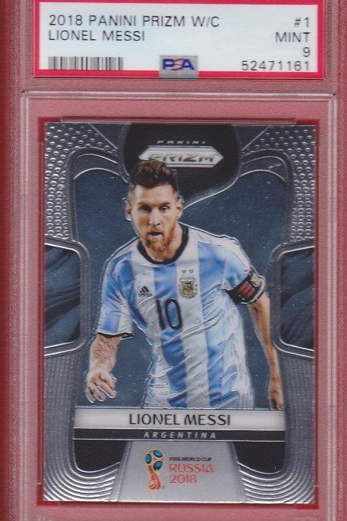 2018 Panini Prizm W/C Lionel Messi #1 PSA 9