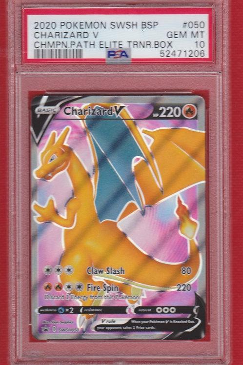 2020 Pokemon SWSH BSP Champion Path Elite Trainer Box Charizard #050 PSA 10