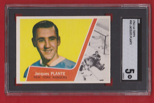 1963-64 Topps Jacques Plante # 45  SGC 5