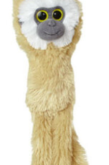 "Monkey Aurora World Natural Hanging Monkey  Light Tan Gibbon 24"""