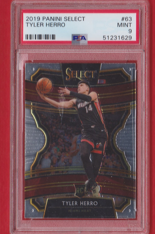 2019 Panini Select Tyler Hero Rookie #63 PSA 9