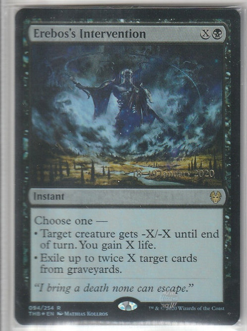 Erebos's Intervention Foil Theros Beyond Death Promos 94/254