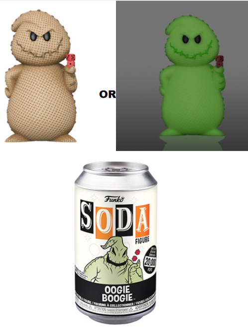 Oogie Boogie Funko Soda Vynil Figure Limited Edition 20,000pc