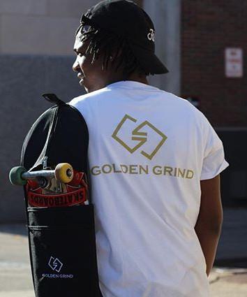 _IN GOLD WE TRUST_ 20K _GOLDENGRIND-SKATEBOARDING BAGS _Available Now..... www.goldengrind