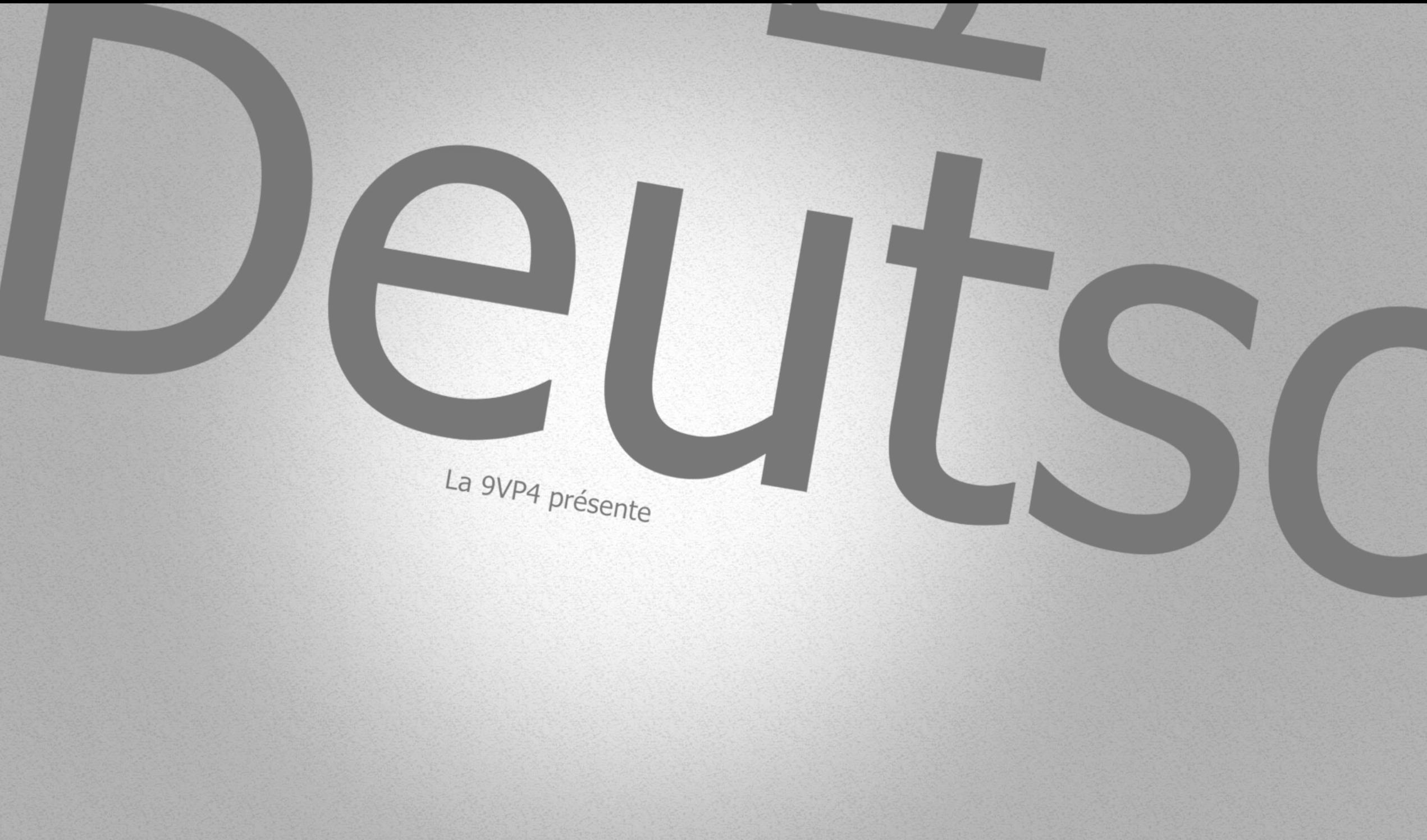 Deutsch und Klischees : 9VP4 & 9VP5