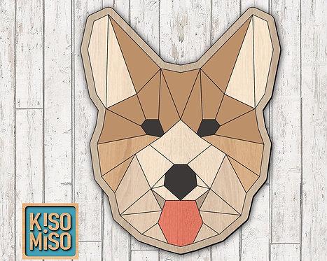 Wood Puzzle Kit-Corgi Dog