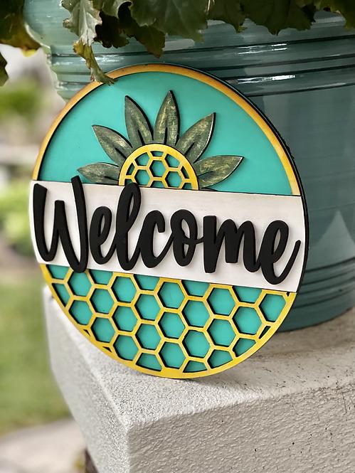 3D Wood Kit-Welcome Pineapple Door Hanger