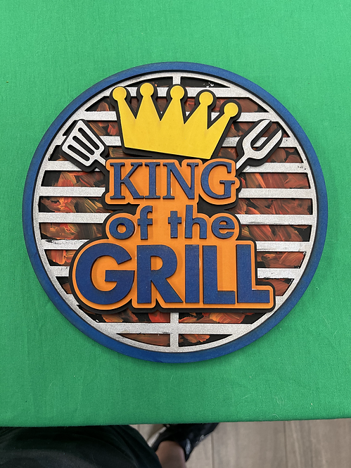 DIY Kit-King of the Grill Wood Sign in 3D!