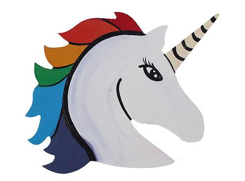Wood Plaque- Unicorn
