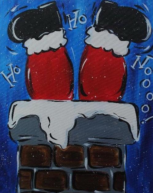 Pre-Stan lied Canvas Santa Legs