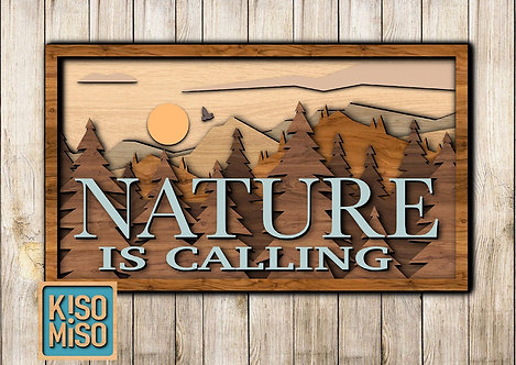 3D Wood Kit- Nature is Calling