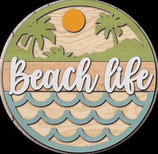 3D Wood Kit- Beach Life Waves