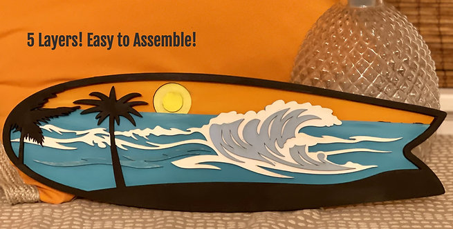 DIY Kit- 3D Wooden Surfboard