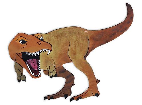 Wood Plaque- T Rex Large