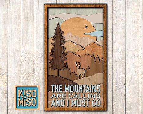 3D Wood Kit- The Mountains Are Calling