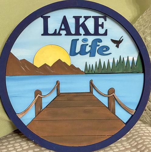 DIY Kit- Lake Life 3D Wood Sign