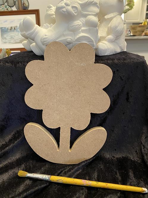 Flower Wood Plaque