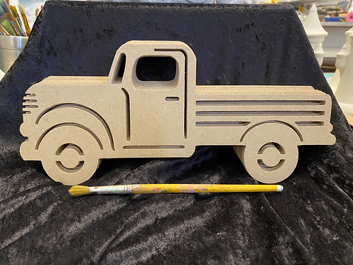 Wood Plaque- Truck