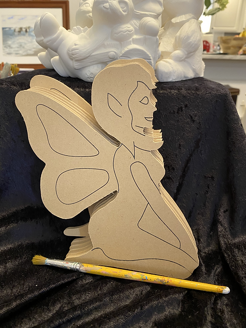 Wood Plaque- Fairy