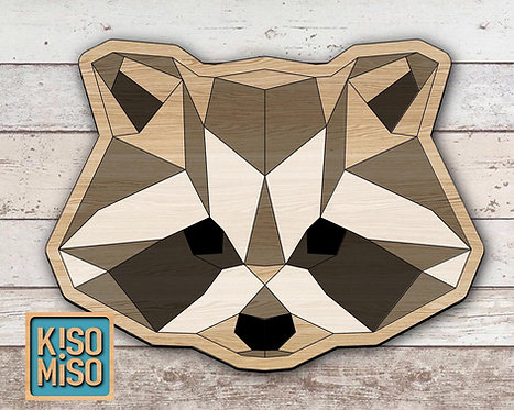 Wood Puzzle Kit-Racoon