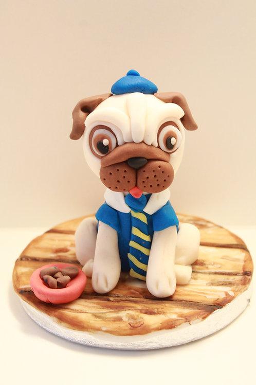 Cake topper - Pug