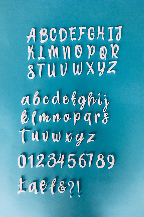 Cake decorating alphabet and numbers stamps - Sweet Letters