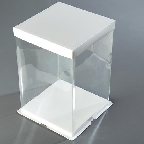 "12"" presentation box, 32cm x 32cm base, 40cm high"