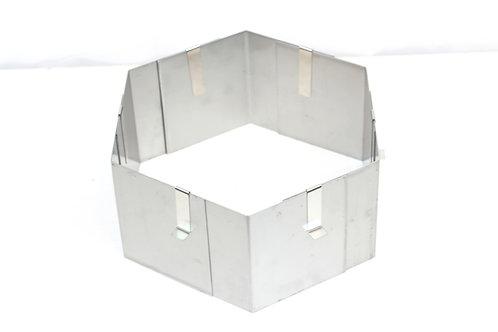 Hexagon cake ring, 12cm high, adjustable size