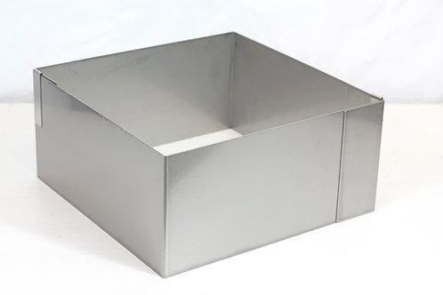 Square cake ring, 12cm high, 25cm x 25cm base