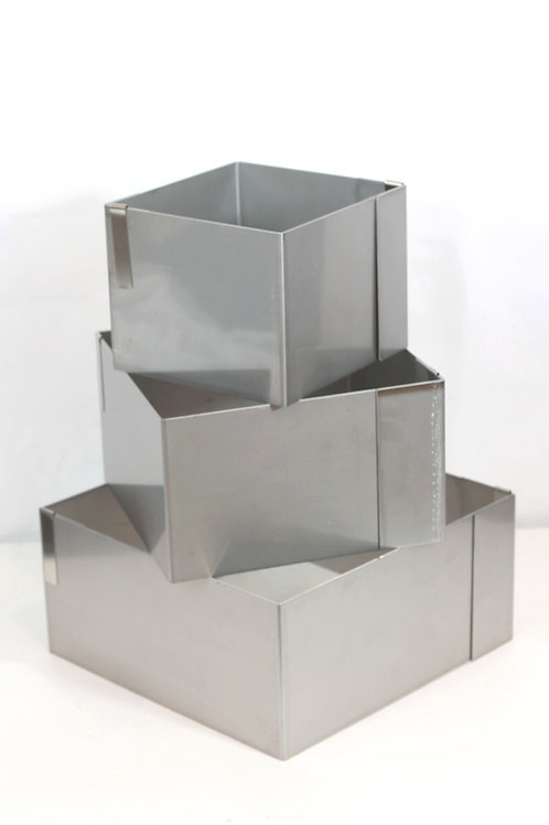 Full set of 3 square cake rings