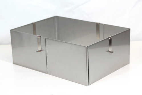 Rectangle cake ring, 12cm high, 16cm - 32cm adjustable base