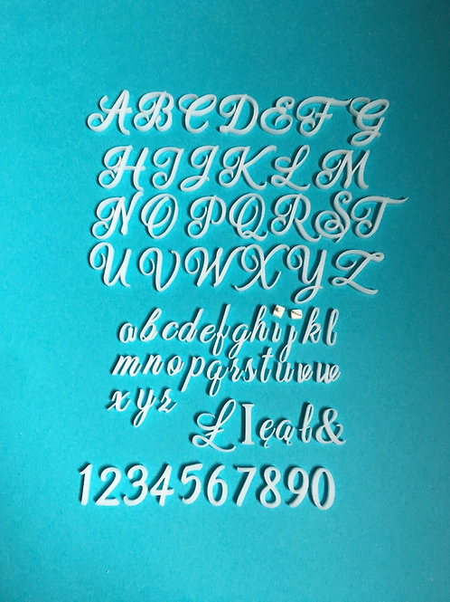 Cake decorating alphabet and numbers stamps - Celebration Letters