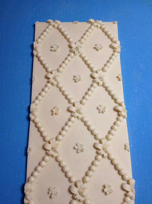 Silicone decorating mould - Tape of beads
