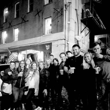 Creepy Crawl haunted pub tour adults only drinking ghost tour guests
