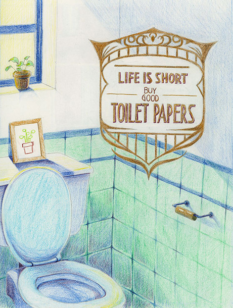 toilet art
