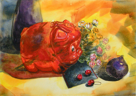 watercolor still-life