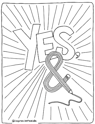 Yes And, coloring page .png