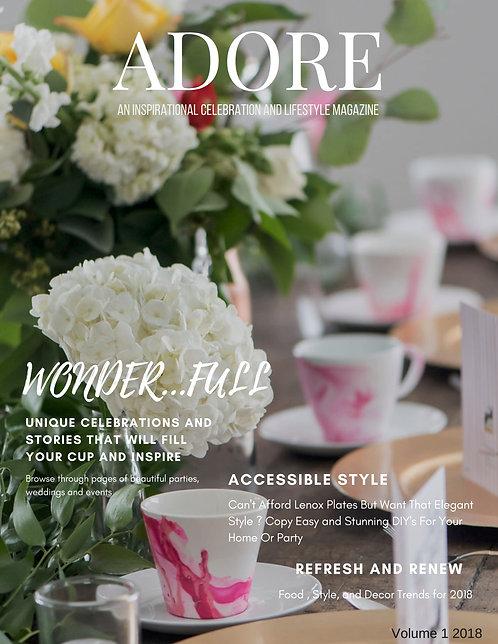 Adore Magazine Spring Summer 2019 Print Edition