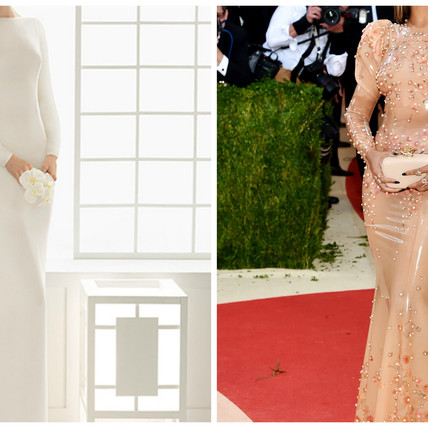 2016/2017 Wedding Attire and Decor Inspiration found in the fashion of Met Gala.