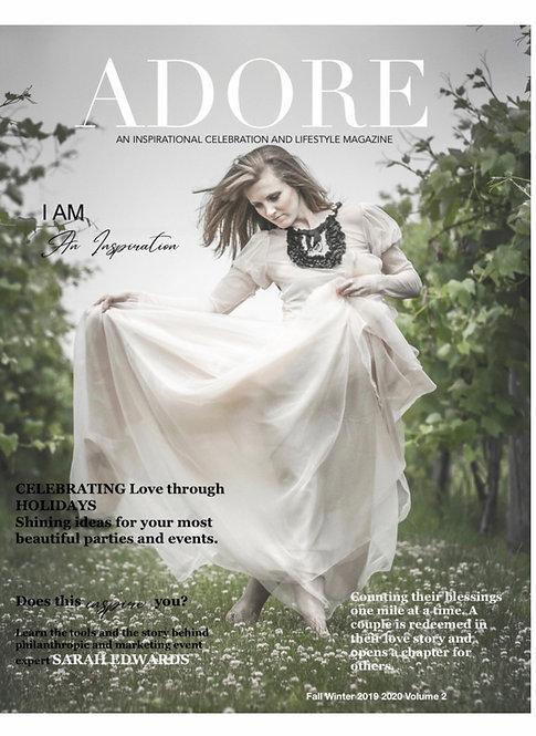 AdoreMagazine Print Edition - Fall  Winter 2019 /2020